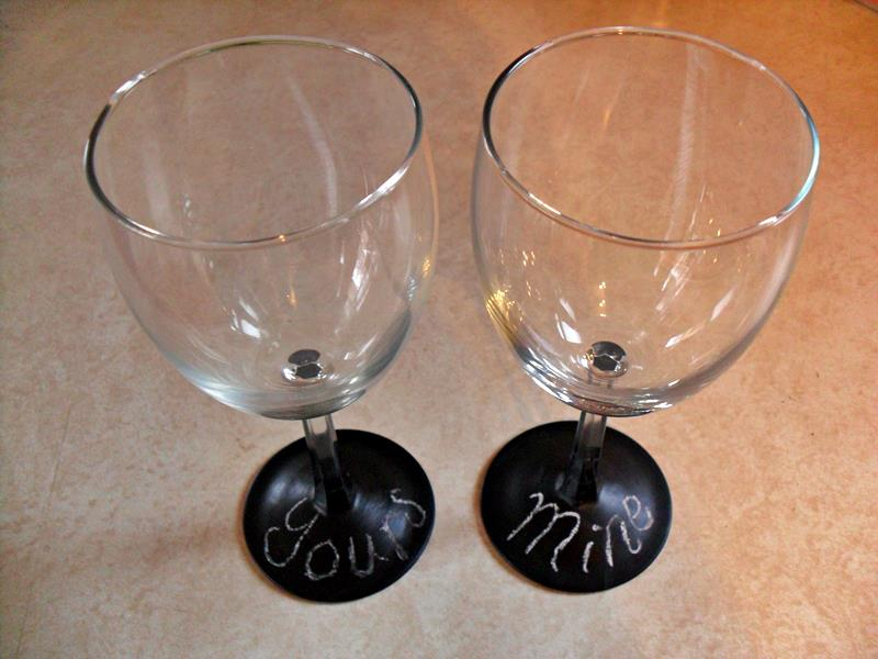 Chalk Wine Glasses