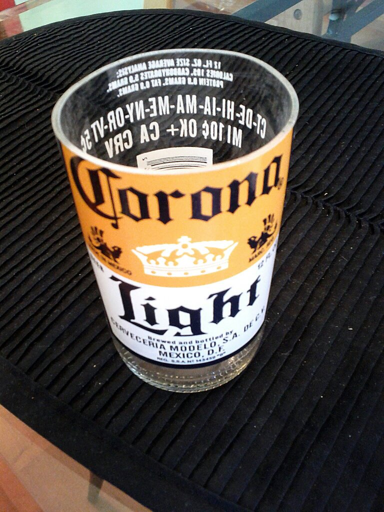 Corona Beer Bottle Drinking Glass