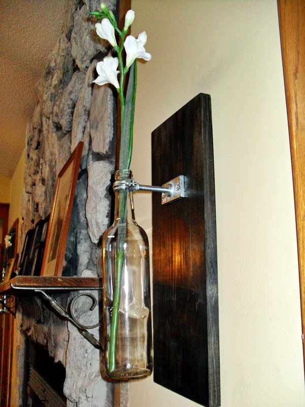 Hanging Wine Bottle Vase
