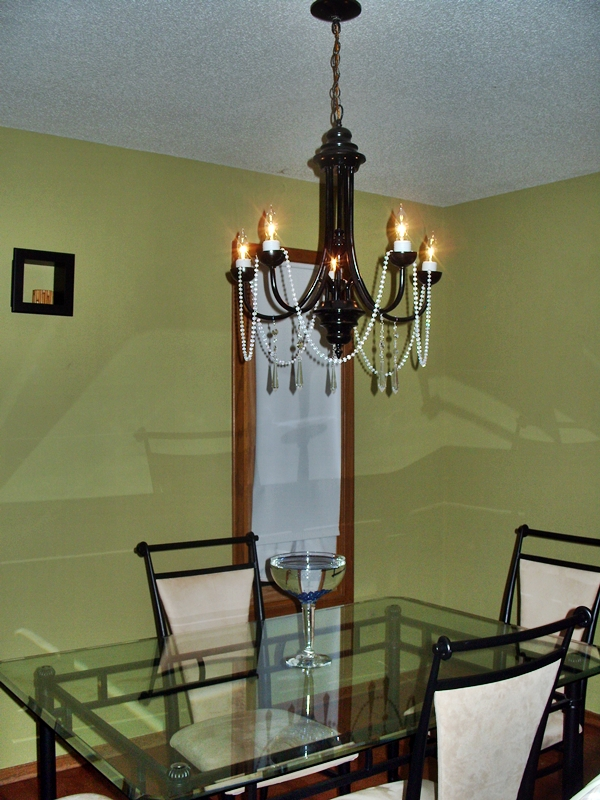 Chandelier revamp after