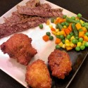 Spicy Garlic Braised Beef and Hush puppies