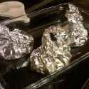DIY baked chicken  foil packets