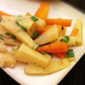 Citrus glazed carrots and parsnips