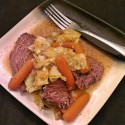 Crock Pot Roast Beef With Onions, Carrots And Cabbage