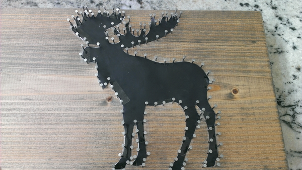 Moose nail and string art