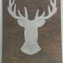 Thumbtack buck head art