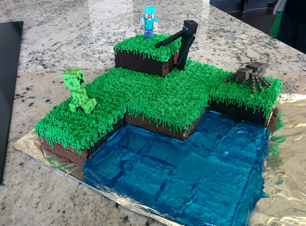 Minecraft Birthday Party Cake