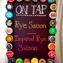Beer Bottle Cap Chalk Board Beer Tap Menu