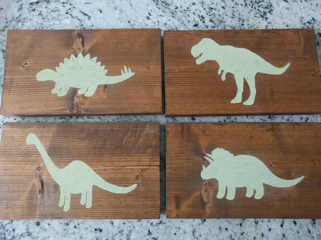 Wooden Dinosaur Wall Art