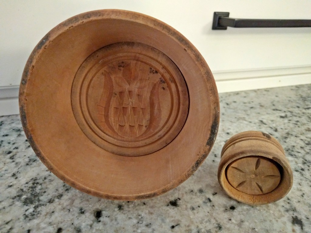 Antique Family Heirloom Wooden Butter Molds